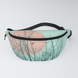 Birds and tree silhouette 2 Fanny Pack