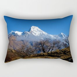 Panoramic View Of Annapurna Ghorepani Poon Hill Rectangular Pillow