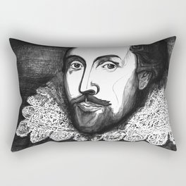William Shakespeare Portrait - The Tudor Illustration Series Rectangular Pillow