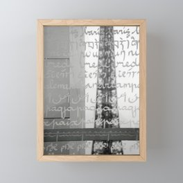 Wishes for peace from Paris Framed Mini Art Print