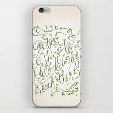 'The Best thing to hold onto in Life is Each Other' ~ Audrey Hepburn iPhone & iPod Skin