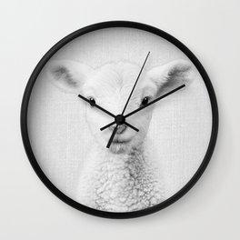 Lamb - Black & White Wall Clock