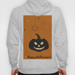 Happy Halloween Card with evil pumpkin Hoody