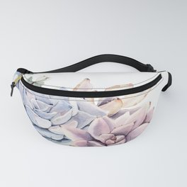 Pristine Succulents Blue and Pink Fanny Pack
