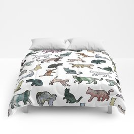 Cats shaped Marble - White Comforters