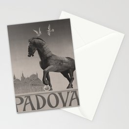 retro dark ENIT Padova old psoter Stationery Cards