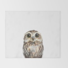 Little Owl Throw Blanket