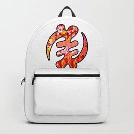 Pink Retro Gye Nyame Backpack