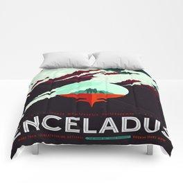 Vintage poster -Enceladus Comforters
