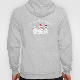 Chillin With My Snowmies Snowman Christmas Gift Hoody