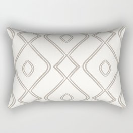 Modern Boho Ogee in Cream Rectangular Pillow
