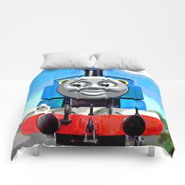 Thomas Has A Smile Comforters