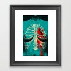 Bird Heart Framed Art Print