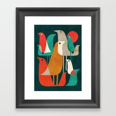 Flock of Birds Framed Art Print