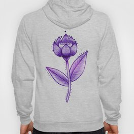 Lotus Be Purple Hoody