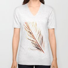 Peacock Feather 1 Unisex V-Neck