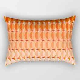 Leaves at sunset - a pattern in orange and red Rectangular Pillow