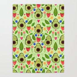 Happy Avocados Poster