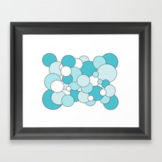 Bubbles - blue and white. Framed Art Print