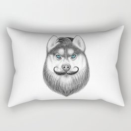 bearded husky Rectangular Pillow