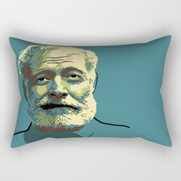 Ernest Hemingway Rectangular Pillow