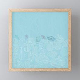 LEAVES ENSEMBLE BLUE Framed Mini Art Print