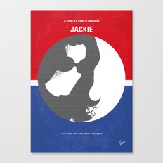 No755 My Jackie minimal movie poster Canvas Print