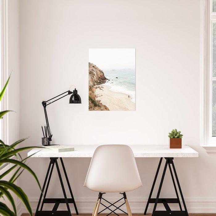 Malibu California Beach Poster