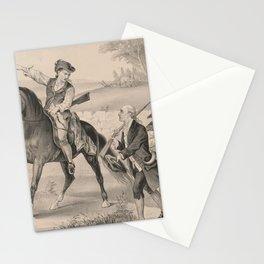 Vintage Minutemen of The Revolution Illustration (1876) Stationery Cards