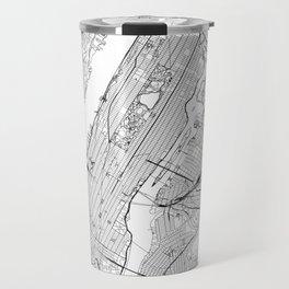 New York City White Map Travel Mug
