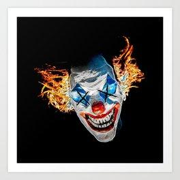 Dead Clown Barbecue Art Print
