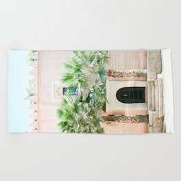 """Travel photography print """"Magical Marrakech"""" photo art made in Morocco. Pastel colored. Beach Towel"""