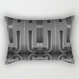 Art Deco 32 . Graffiti black and white Rectangular Pillow