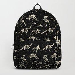 Dinosaur Fossils on Black Rucksack