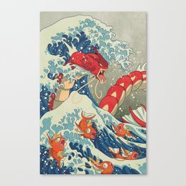 The Great Red Wave I Canvas Print