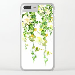 Watercolor Ivy Clear iPhone Case