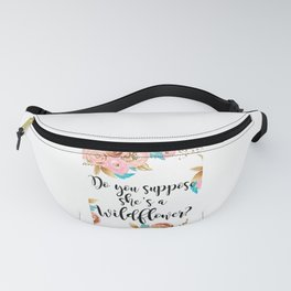 Blush and gold wildflower Fanny Pack