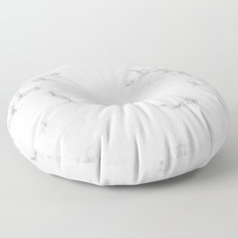 The Perfect Classic White with Grey Veins Marble Floor Pillow