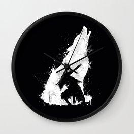 Wolf Knight Wall Clock