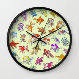 Fish Swimming in Sea Wall Clock