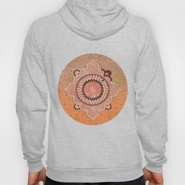 Mandala ornament orange Hoody