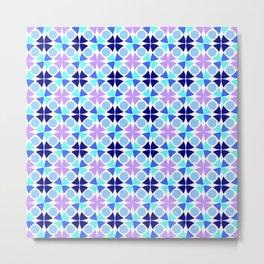 Symmetric patterns 189 blue and purple Metal Print