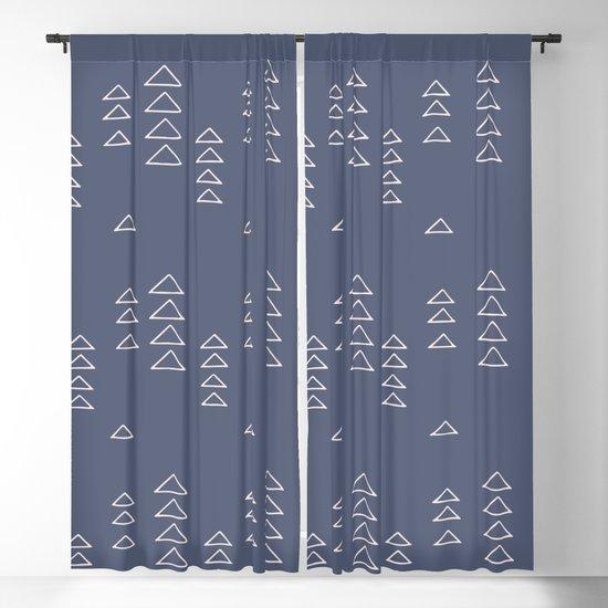 Modern Minimalist Triangle Pattern in Slate Blue by junejournal