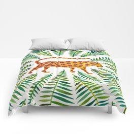 Jaguar – Green Leaves Comforters