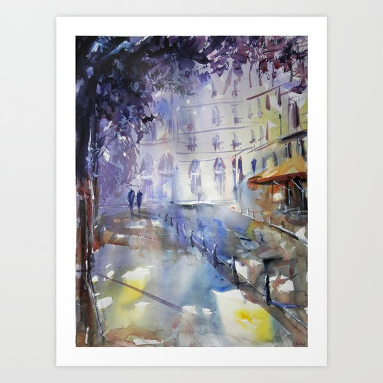 Promenade à l'ombre Art Print