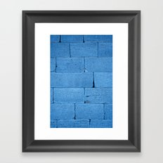 Blue bricks Framed Art Print