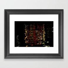 River Lights Framed Art Print