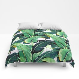 Tropical Banana leaves pattern Comforters