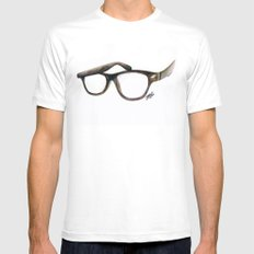 Hipster's Paradox Mens Fitted Tee MEDIUM White