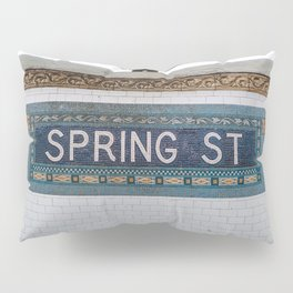 Spring Street Subway Pillow Sham